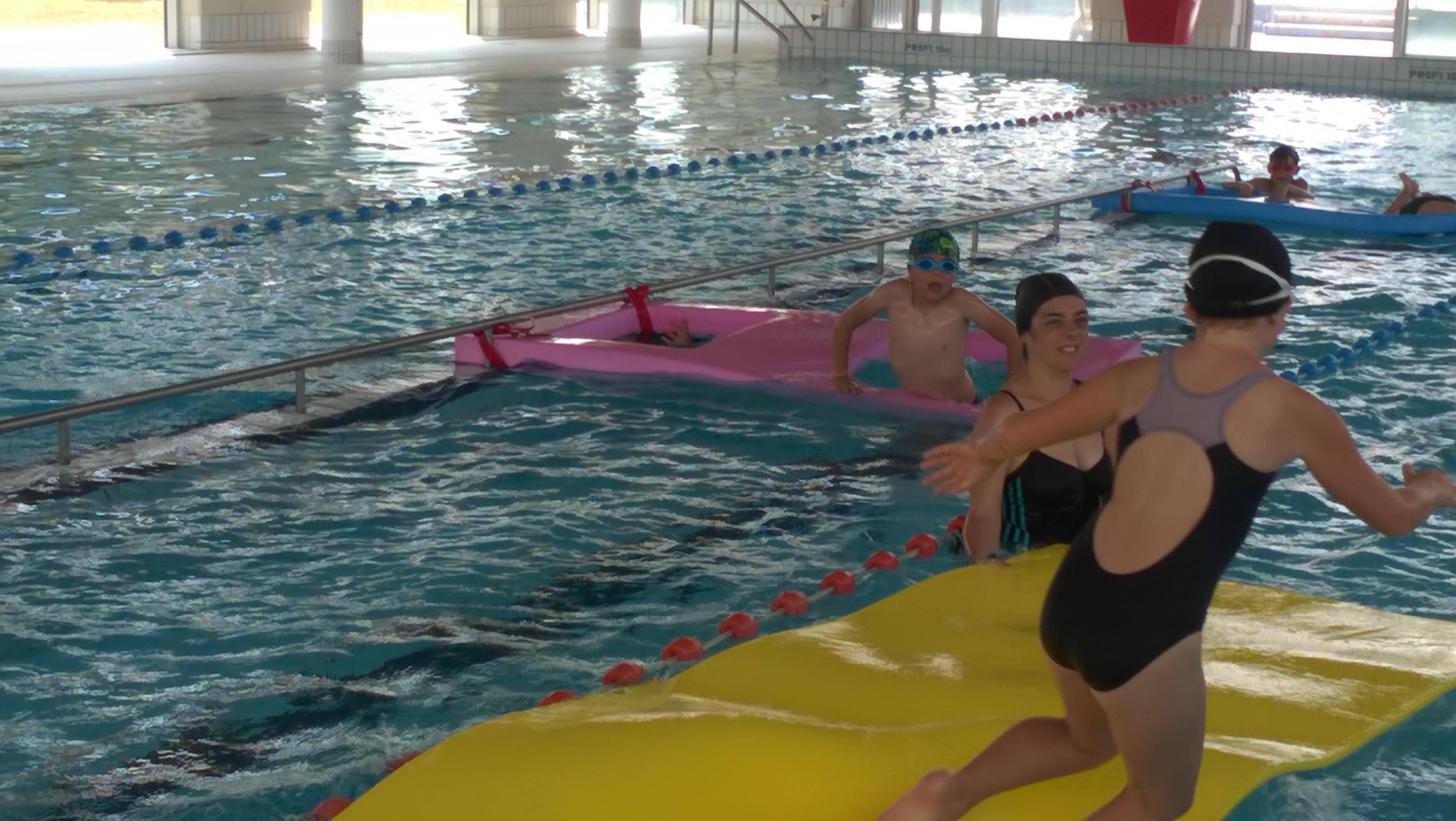 une séance de piscine